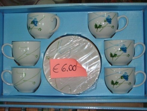 set tazzine per caffè