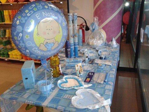 decorazioni blu per nascita neonato