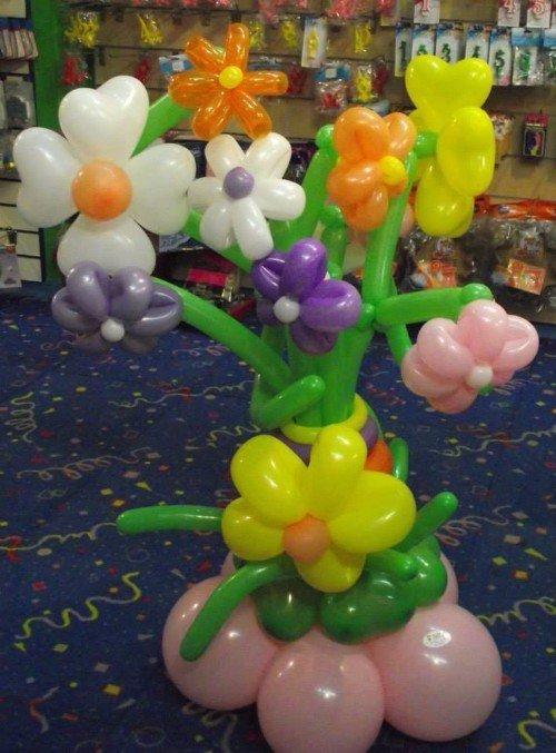 fiori creati con palloncini