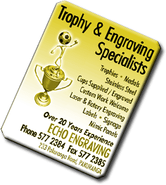 Echo Engraving Engravers Auckland