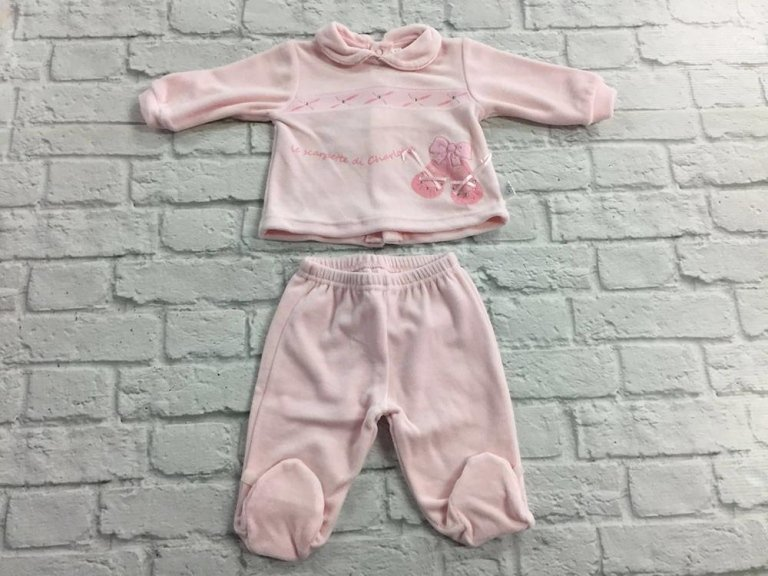 completo rosa per bambina