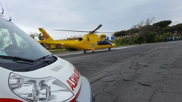 ambulanza vicino elisoccorso