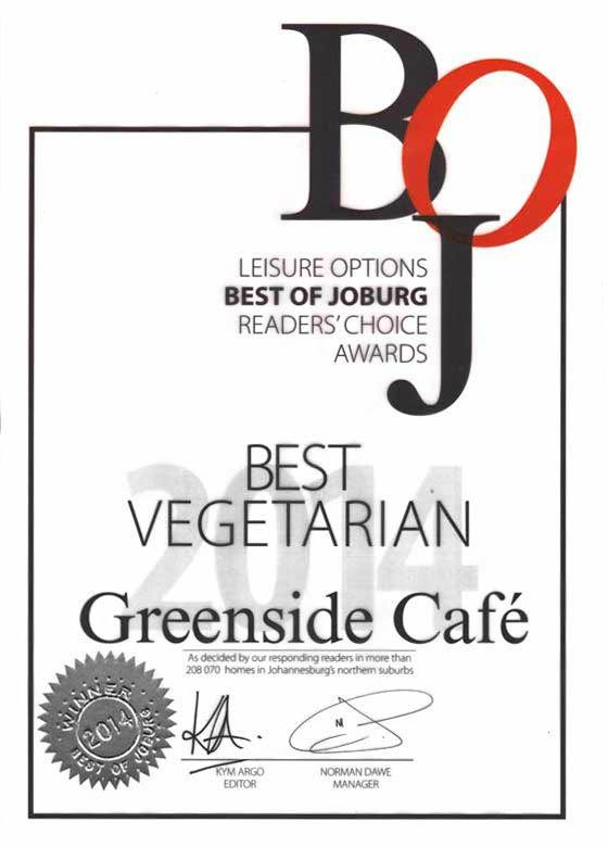 Green Side Cafe awards