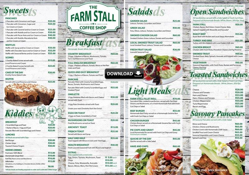 The Farm Stall Menu