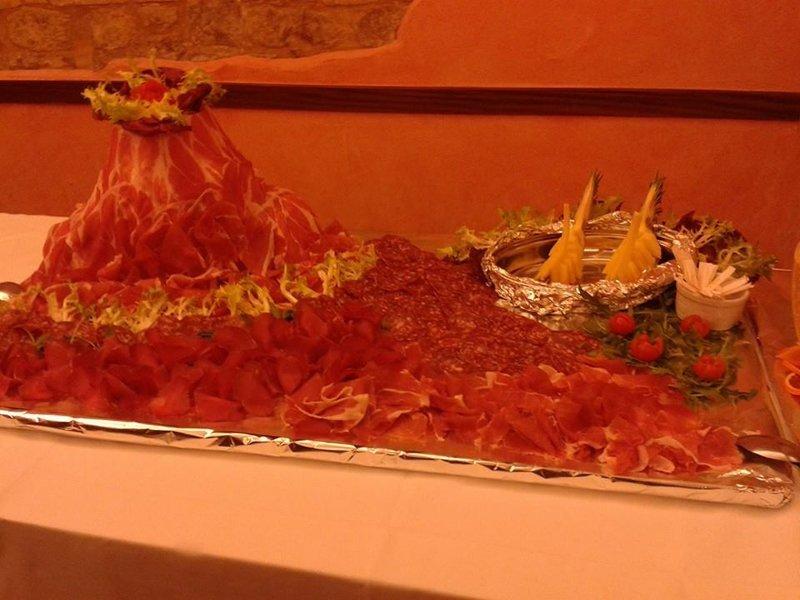 decorazione di carne per feste