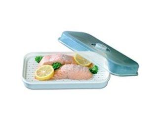 Cuoci pesce al vapore microonde