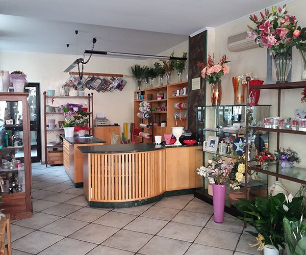 Interno del negozio di fiori