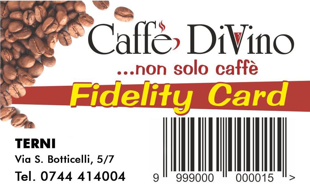 carta fedeltà del coffee store