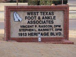 Foot Specialist Big Spring & Odessa, TX