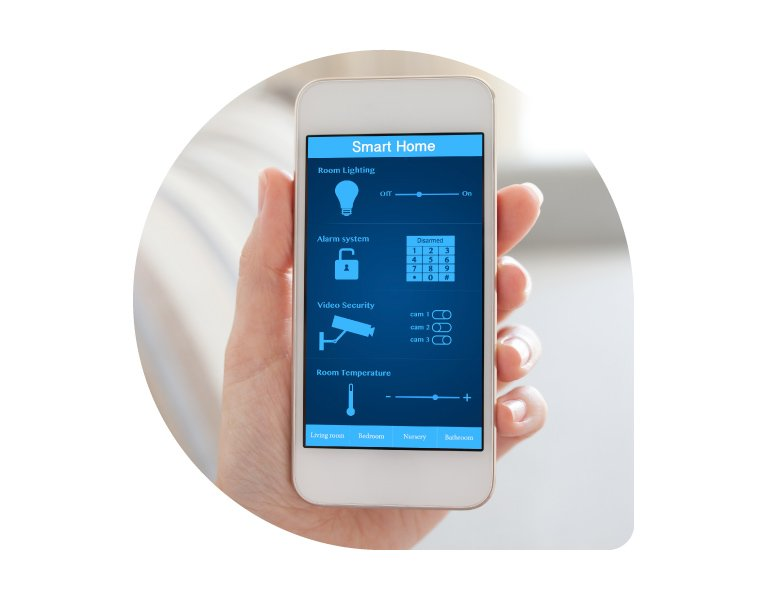 Smart phone used for electrical services in the Blue Mountains