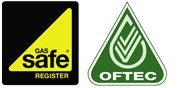 Gas Safe and OFTEC logo