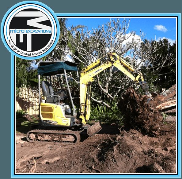 950mm yellow excavator wih stump