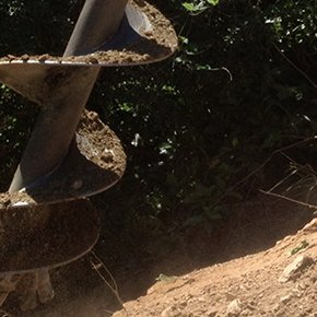 auger in soil