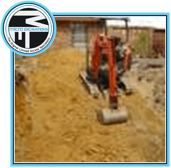 red excavators
