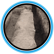 microexcavation trenches and pipe dig