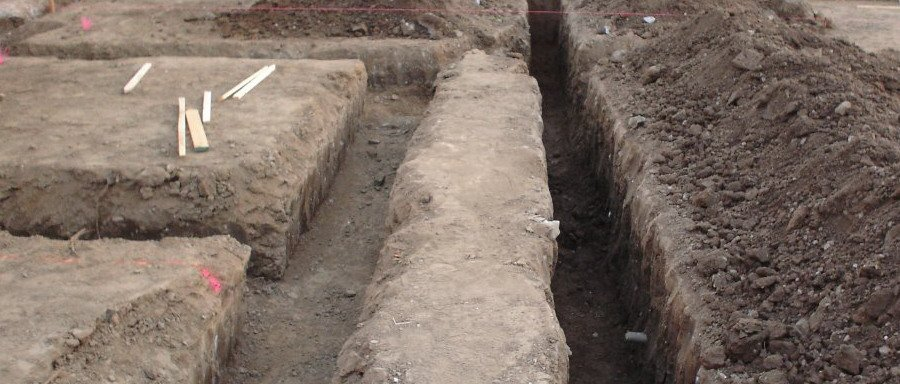 digged soil horizontal