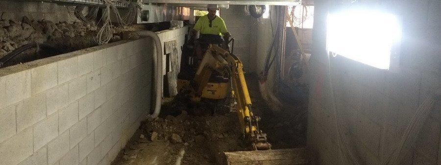 under house excavation