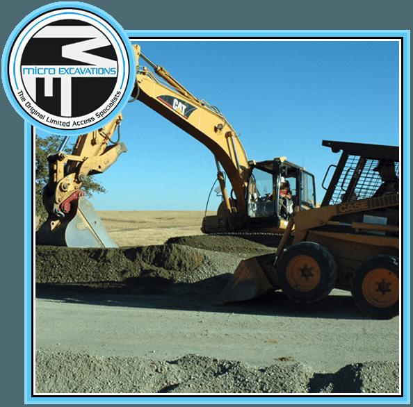 mini excavator yellow paving