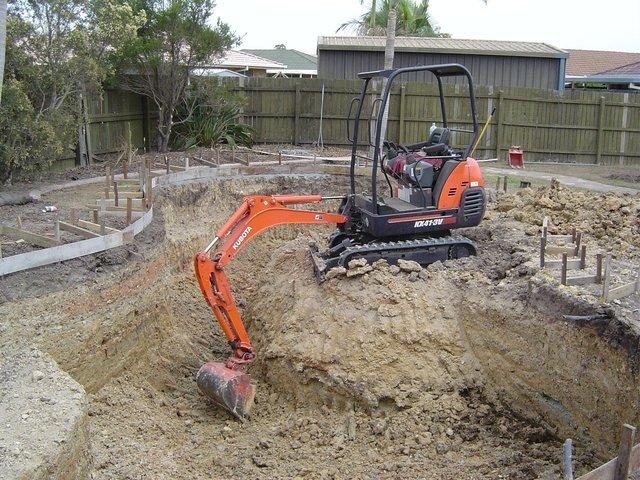 excavator in orange color