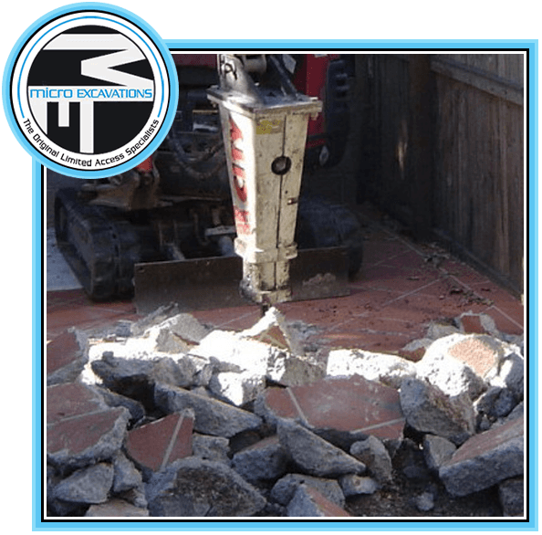 drill hammer truck breaking tiles