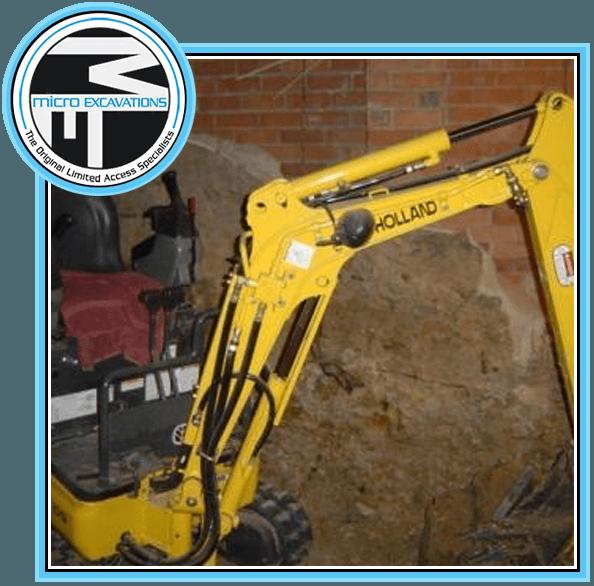 750mm holland yellow excavator