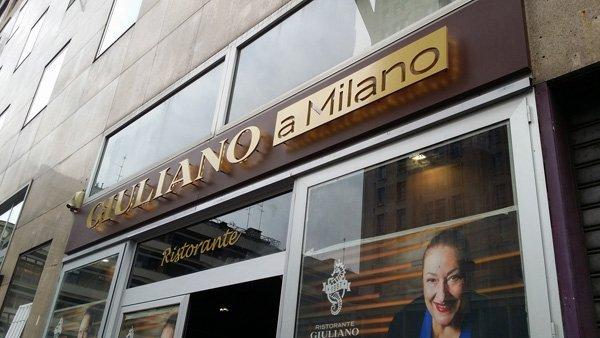 insegna locale GIULIANO a Milano