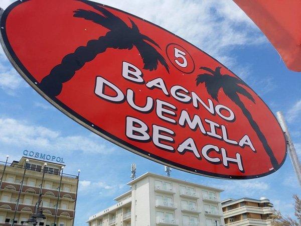 insegna BAGNO DUEMILA BEACH
