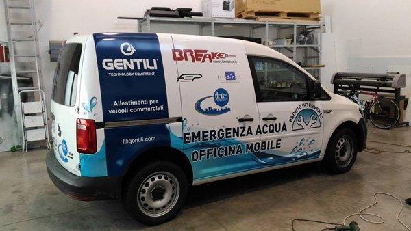 camion emergenza acqua officina mobile