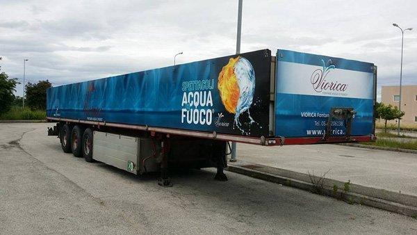 rimorchio camion Spettacoli acqua e fuoco