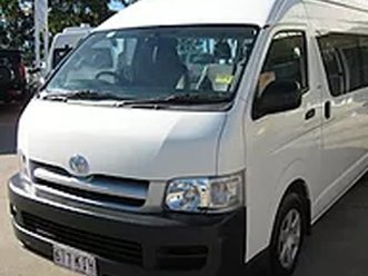 Engine of this van for hire is working good serving the city Gold Coast