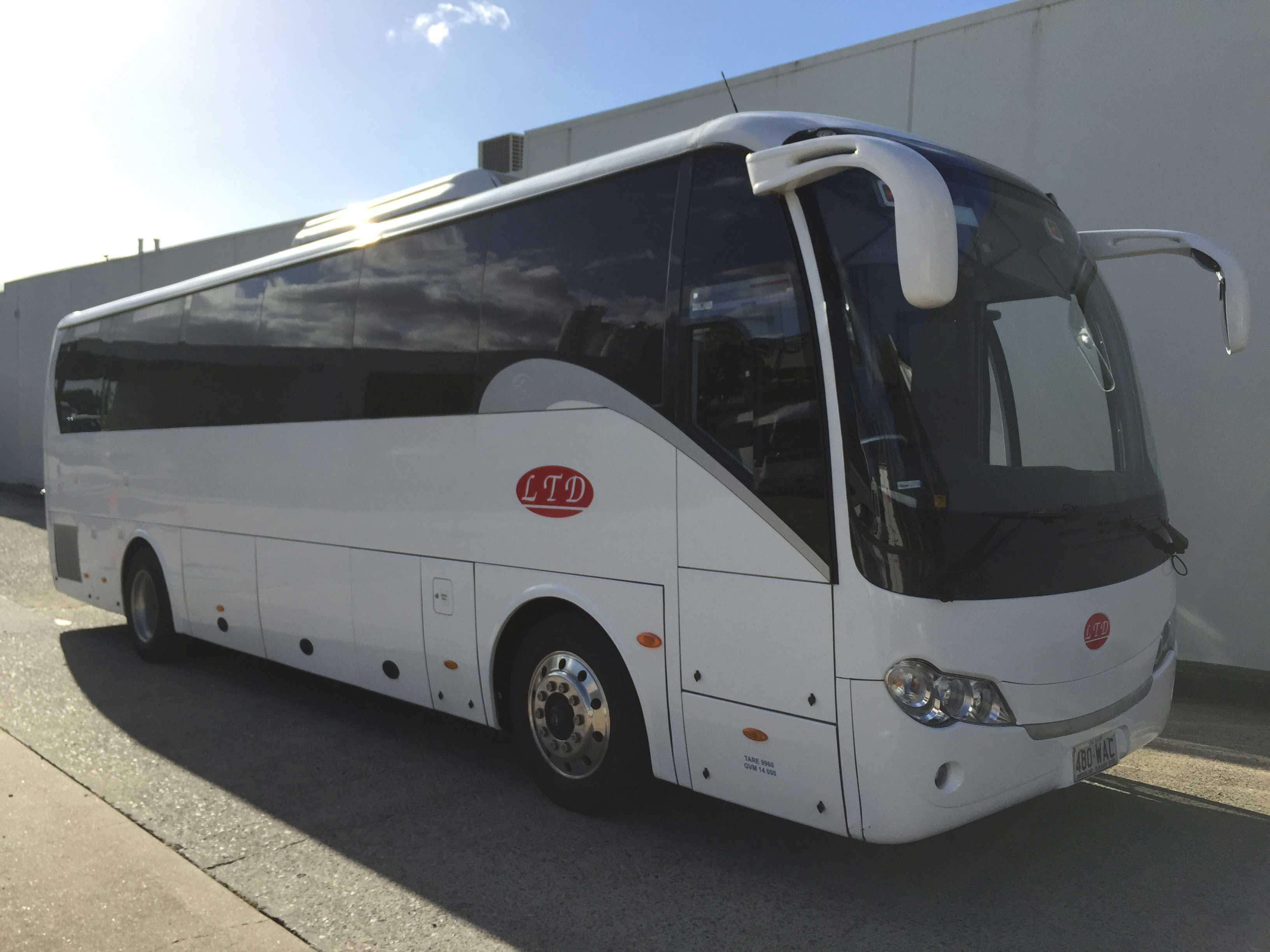 Coach bus rental available in LTD Bus and Truck Rentals Pty Ltd located in Gold Coast