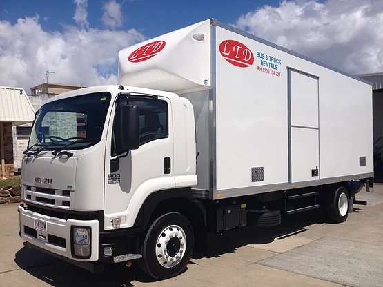 Truck for rental parking under the hot summer on the Gold coast