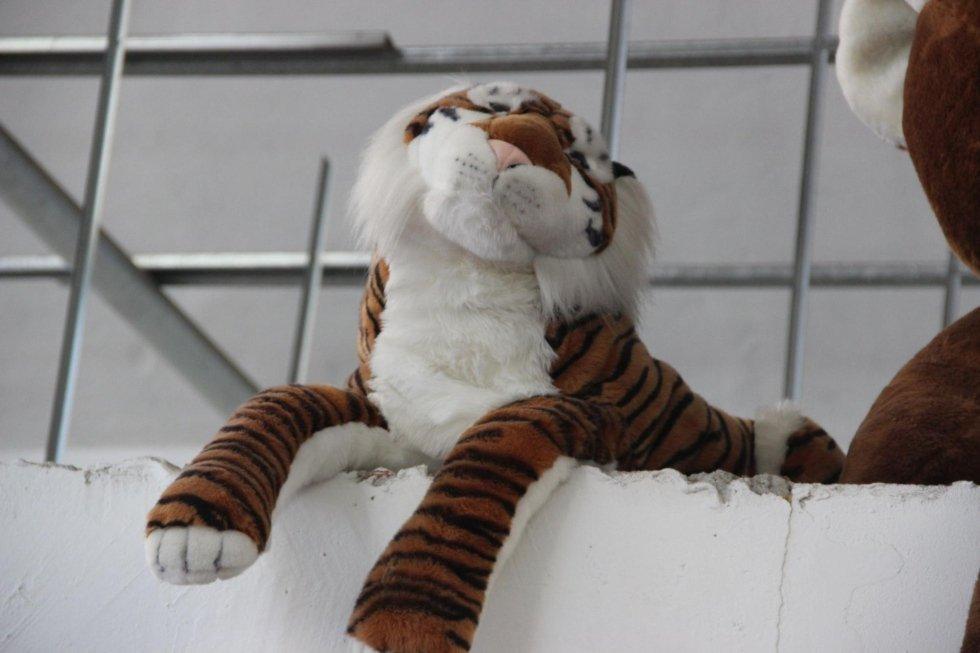 Tigre di peluche