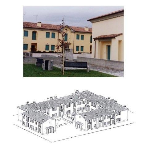 Rendering e veduta del complesso residenziale.