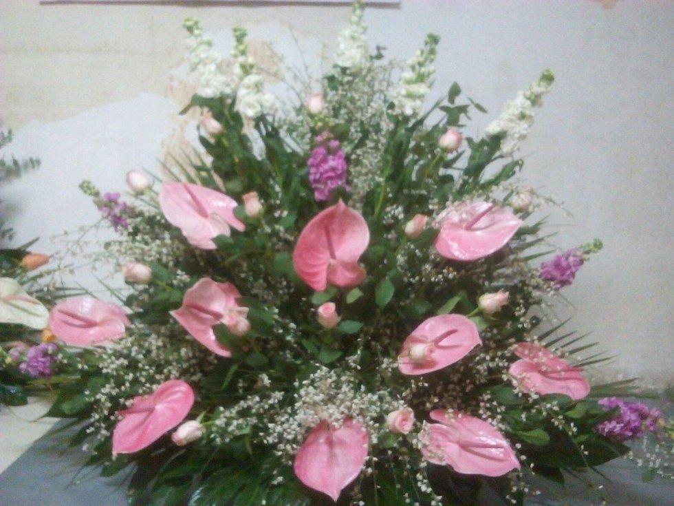 fiori rosa viola bianco
