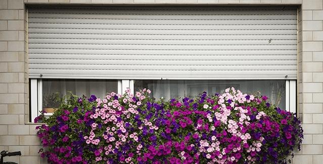 finestra con avvolgibili esterni