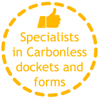 specialists in carbonless dockets and forms