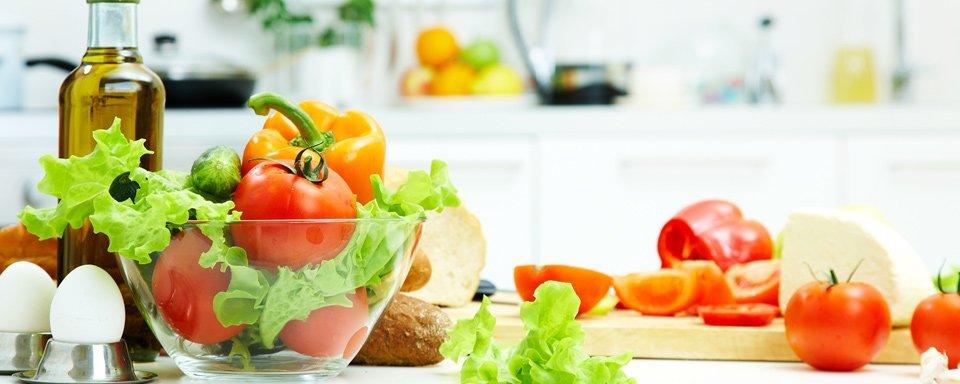 Fresh vegetables  on kitchen countertop