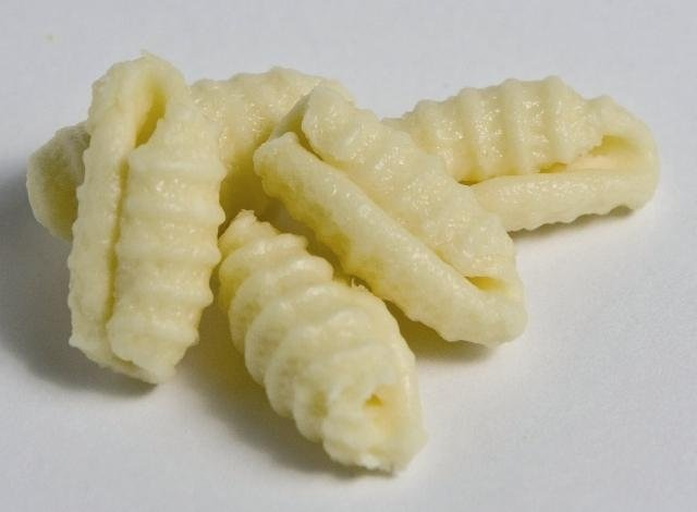 Striped cavatelli