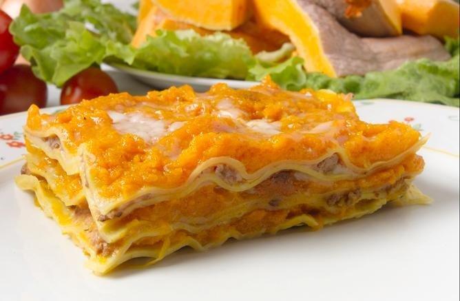 lasagne alla zucca e ragù Bolognese