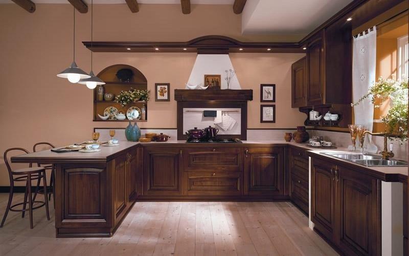 Cucina modello Ducale colore noce