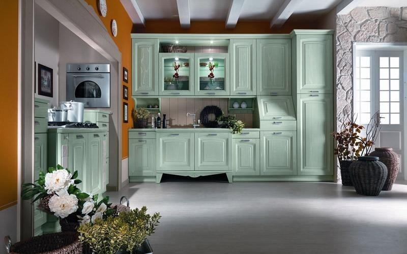 Cucina modello Ducale colore verde
