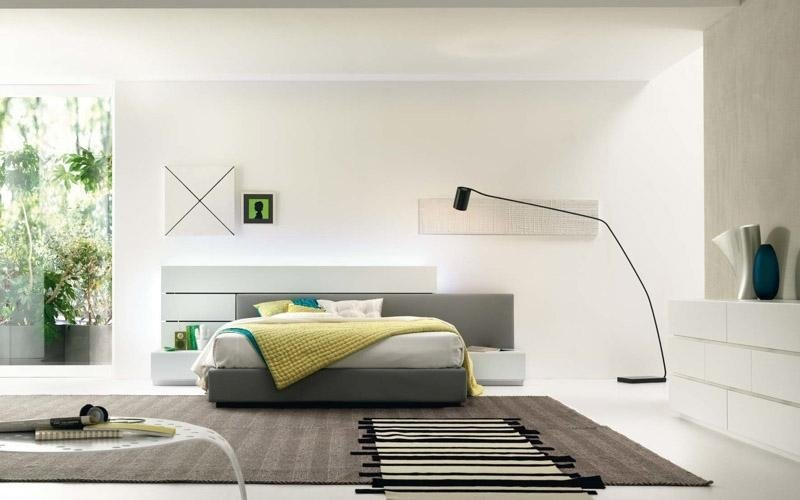 Camera da letto con pannelli