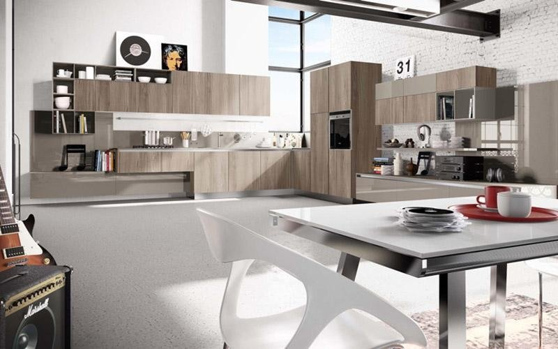 Beautiful cucina modello wood sabbia with cucine da sogno moderne - Cucine lussuose moderne ...