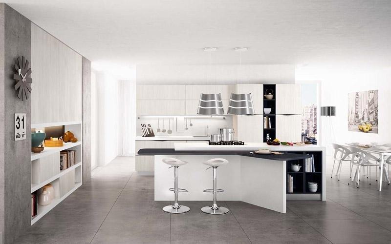 Cucina modello Wood bianco