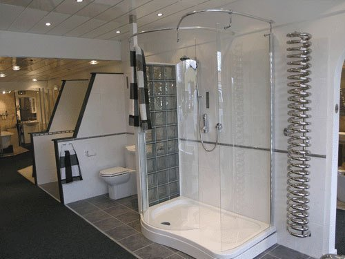 wet room with glass enclosing