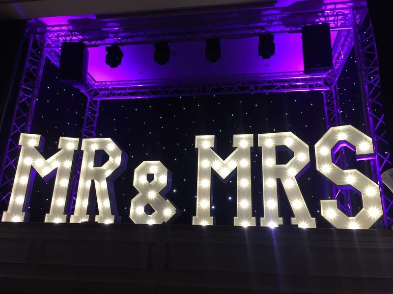 mr and mrs led lights