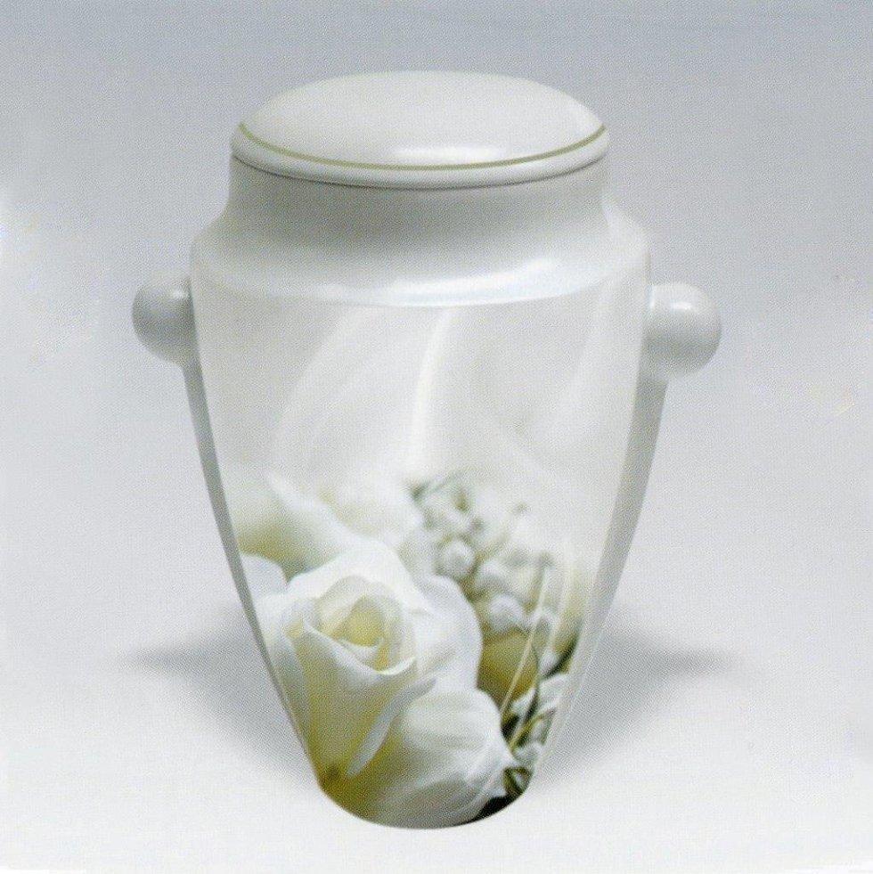Urna cineraria con fiori