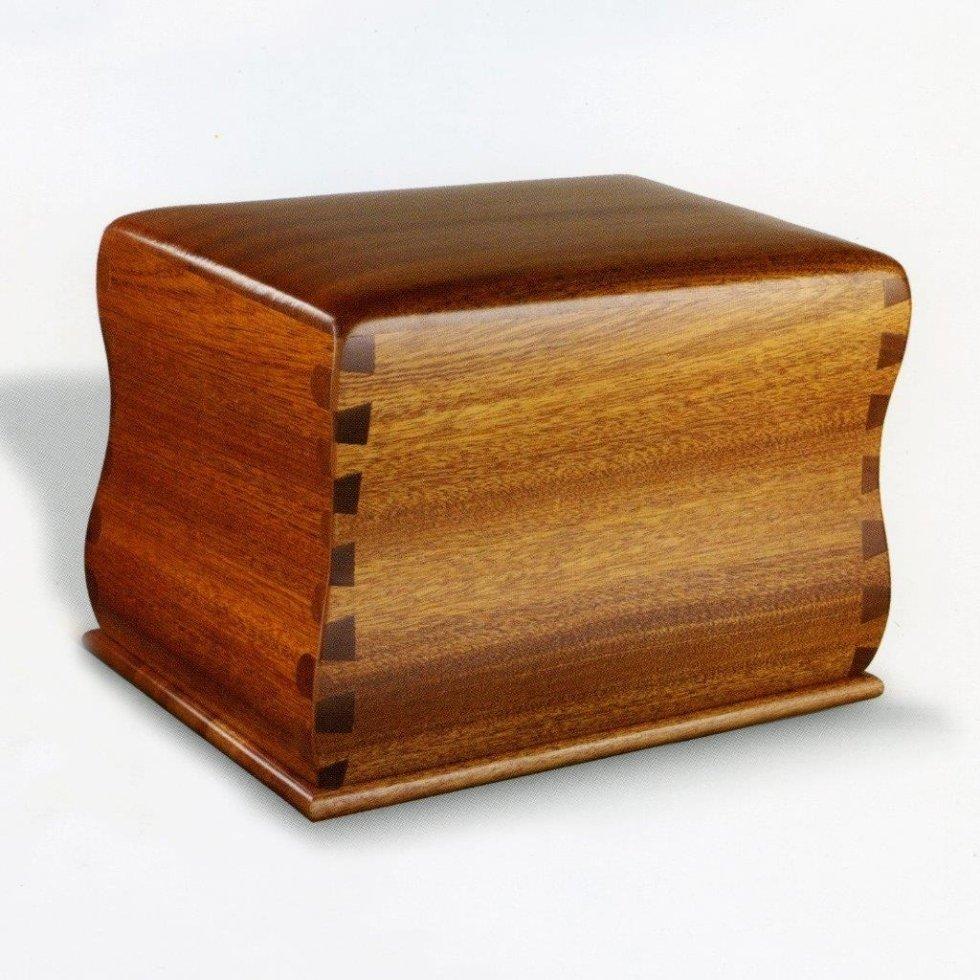 Urna cineraria in legno scuro