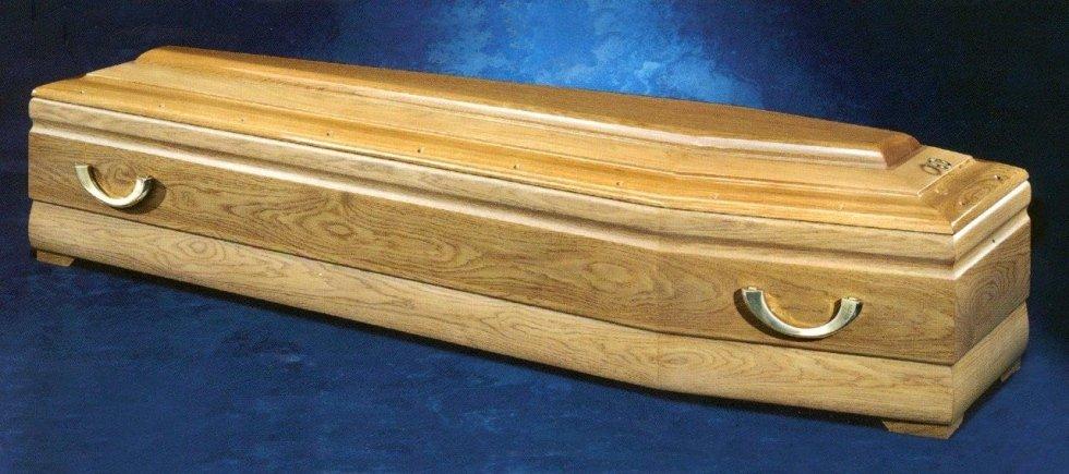 Cofano massello decorato con maniglie